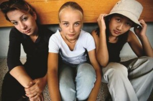 picture of three teenage girls