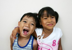 picture two children